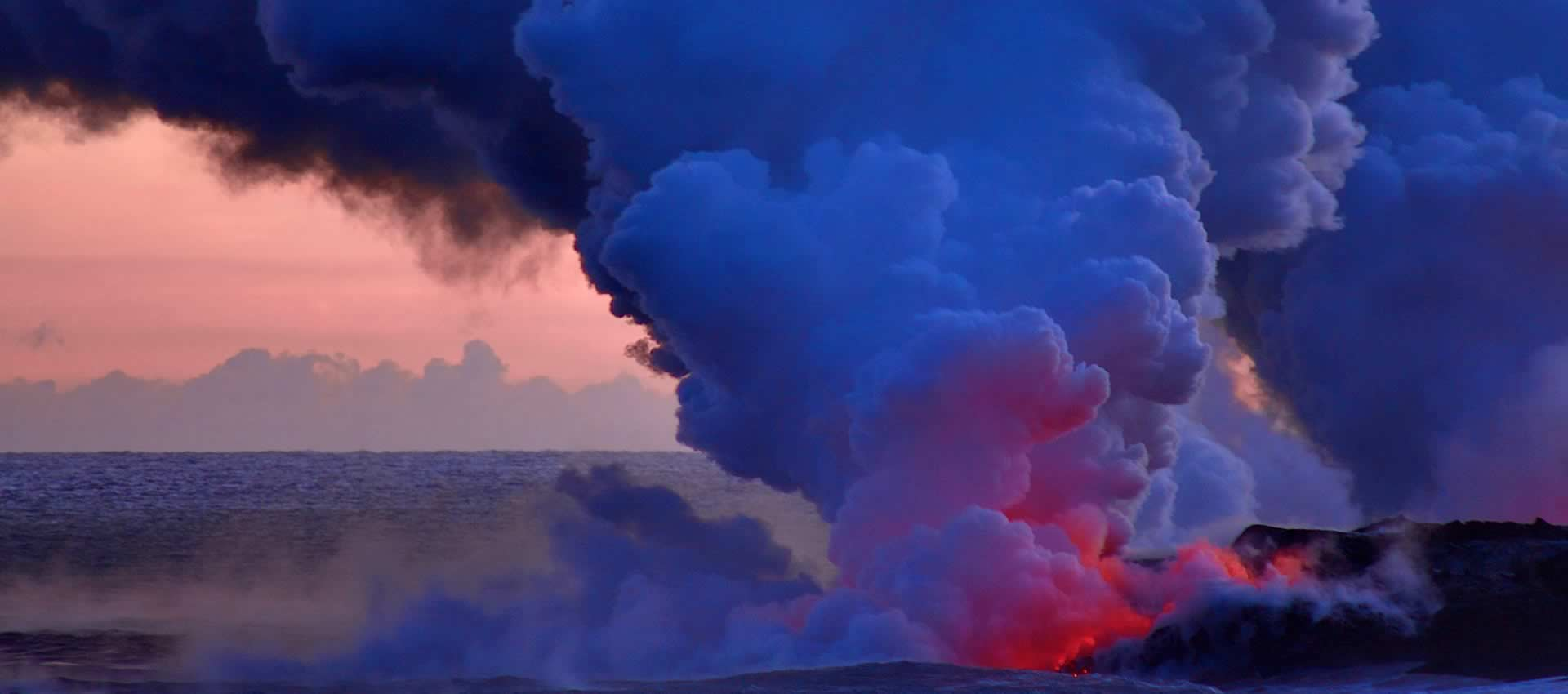 Hawaii Volcano Lava Smoke