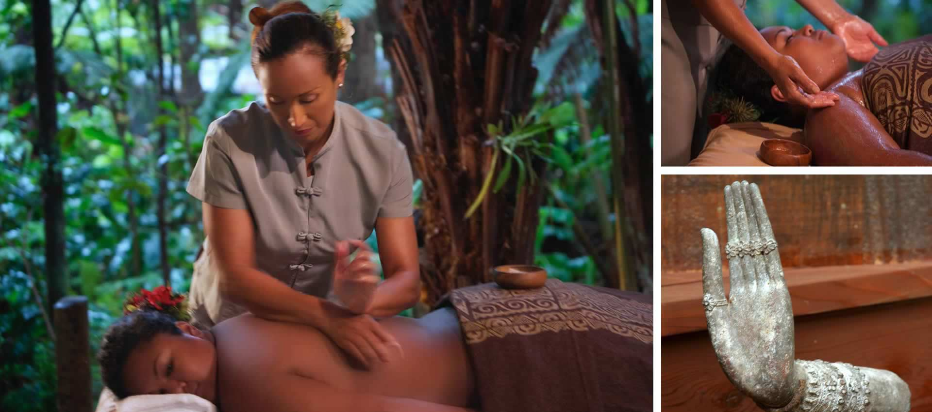 Volcano Rainforest Retreat Guest reciving a relaxing massage