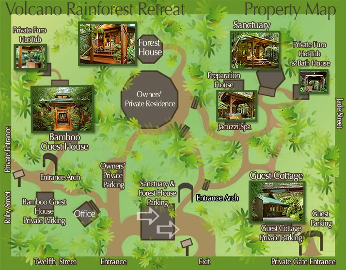 Volcano Rainforest Retreat Property Map