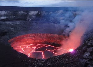 Active Volcano in Hawaii Volcanoes National Park