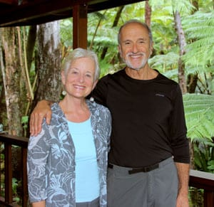 Volcano Rainforest Retreat Bed and Breakfast Owners Kathleen and Peter Golden