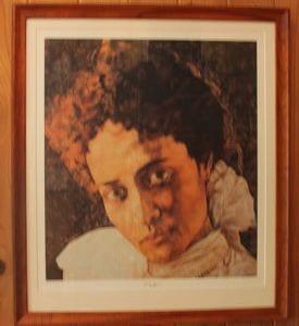 Portrait by artist Laka Morton