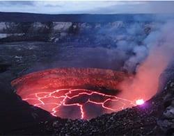 Crater rim of Kilauea Caldera