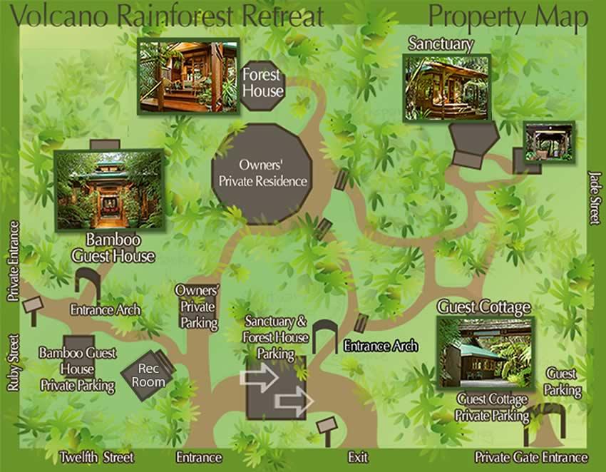 Volcano Rainforest Retreat Property Map