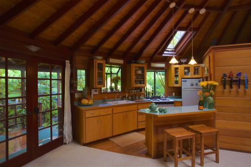Skylight House charming small full kitchen with island sitting area
